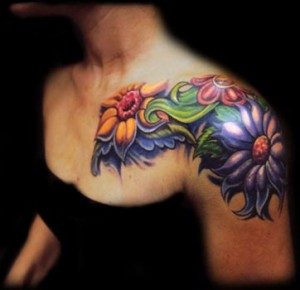 Unique flower tattoo